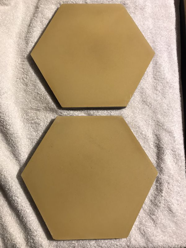 CLE cement hexagon tile (Curry yellow color)