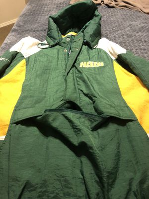 Green Bay Packers Reebok Pullover Hoodie Size Large 1/2 zip 1990s! Like New! for Sale in Fort Worth, TX