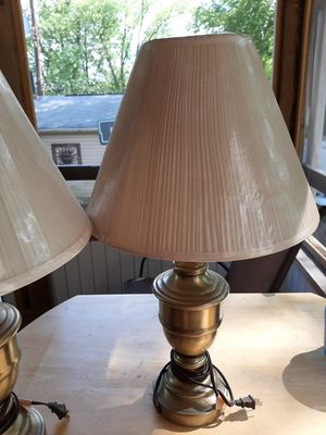 2 bronze table lamps for Sale in Brooklyn Park, MD
