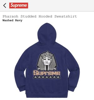 Supreme Pharaoh Studded Hooded Sweatshirt Size M for Sale in West Columbia, SC