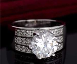 $12 new size 9 silver plated CZ ring for Sale in Ballwin, MO