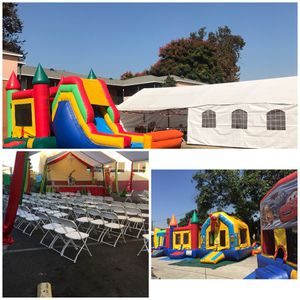 Canopy chairs tables jumpers waterslides portable restrooms mechanical bull for Sale in Los Angeles, CA