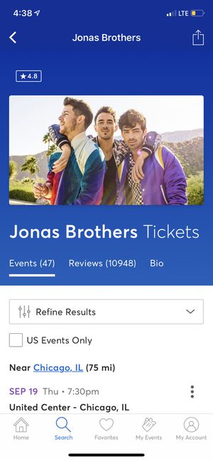 [HALF OFF] JONAS BROTHER CONCERT TIX for Sale in Chicago, IL