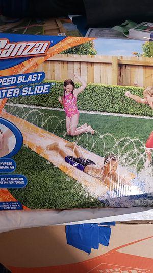Banza speed blast water slide high speed water tunnel for Sale in Poway, CA