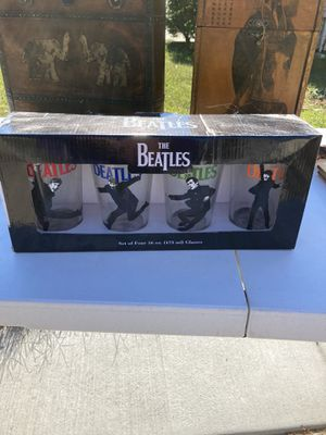 4 collectible Beatles glasses for Sale in Garner, NC