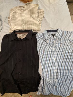 Mens dress shirts, short and long sleeve, size L for Sale in Virginia Beach, VA
