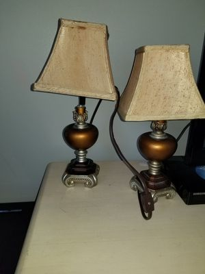 Two antique table tops lamps plus antique watch and for Sale in Miami, FL