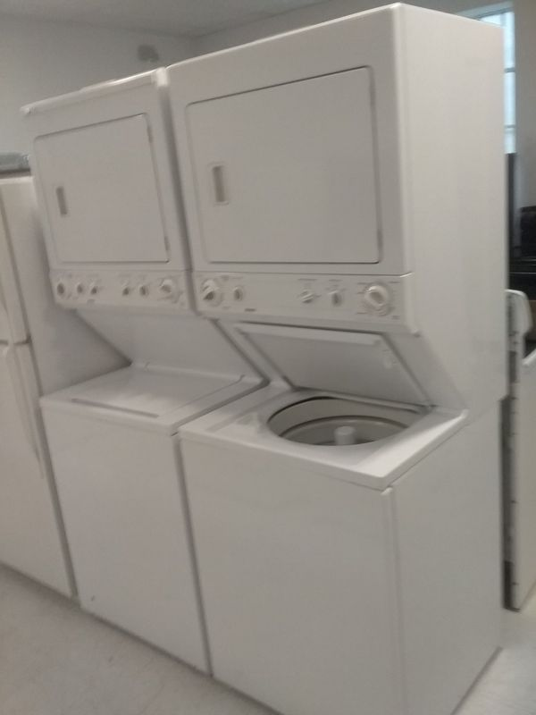 Kenmore,,ge stackable washer and dryer 27 inches good condition 90days warranty