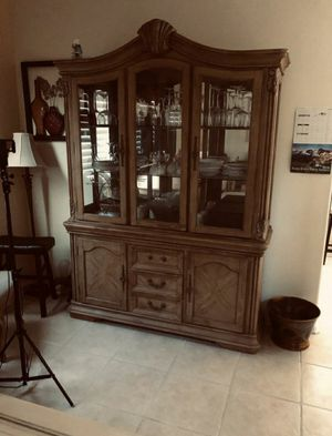 Ashley China Cabinet With Matching Dining Table And Chairs for Sale in Garden Grove, CA