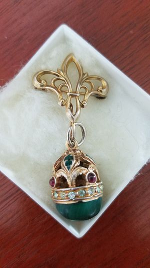 Faberge style egg pendant/pin for Sale in Arlington, VA