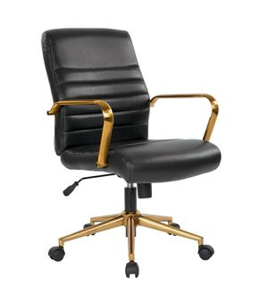 Black and Gold Office Swivel Chair, High Backrest with Arm Rest for Sale in ROWLAND HGHTS, CA