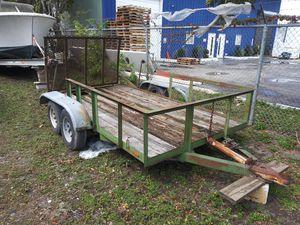 """6'4"""" x 12 heavy duty 2 axle trailer for Sale in North Miami Beach, FL"""