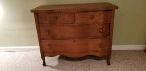 Antique Tiger Oak Serpentine Dresser for Sale in Clarkston, GA