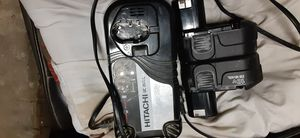 Hitachhi 2 18v batteries and charger $50 for Sale in Scranton, PA