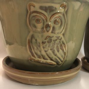 Ceramic Planters - Owls - Large and small set for Sale in Pembroke Pines, FL