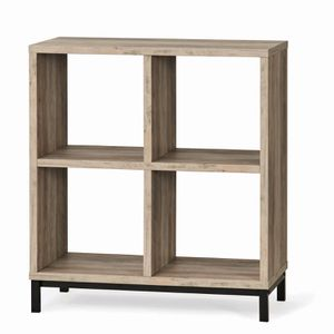 4-Cube Storage Organizer with Metal Base, Multiple Finishes for Living Room, Bedroom, Book Storage for Sale in Henderson, NV
