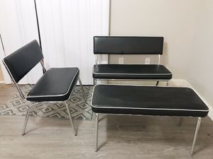 Vinyl seats, Retro Vintage Benches Chairs, Patio chairs, Outdoor furniture for Sale in Phoenix, AZ