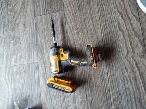 Dewalt impact drill 3 speed and battery .wirking perfectly for Sale in Arlington, TX