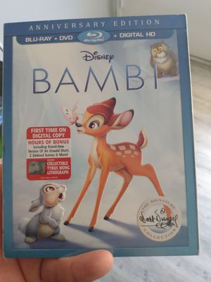 Disney Bambi BLU-RAY DIGITAL HD for Sale in Pomona, CA