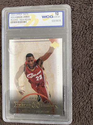 2003 Lebron James WCG Grade 10 Upper Deck Rookie Basketball Card #28 for Sale in Fresno, CA