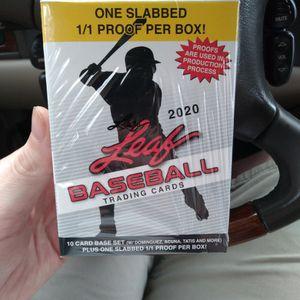 2020 Leaf Baseball 1/1 Slabbed Card Per Box for Sale in Kirkland, WA