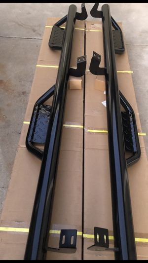 Toyota Tacoma Tundra crew cab crew max 2005 - chevy Silverado, GMC, Sierra Nissan Frontier , gmc canyon chevy Colorado hummer nerf bars side steps for Sale in San Marcos, CA