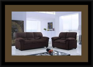Chocolate microfiber sofa and loveseat for Sale in Fairfax, VA