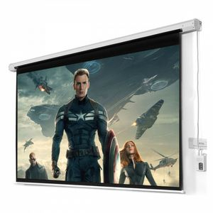 New in box 100 inches 16:9 ratio HD retractable electric motorized projector screen with remote control for Sale in Whittier, CA