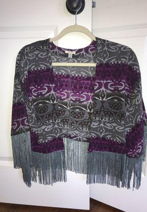 Women size small fringe blazer like new for Sale in Dearborn Heights, MI