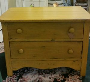 Small deep yellow primitive chest/table for Sale in Bartow, FL