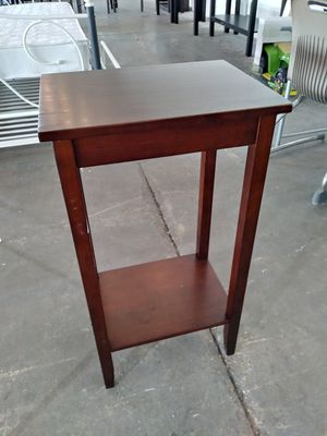 Coffee Brown Tall End Table for Sale in Dallas, TX