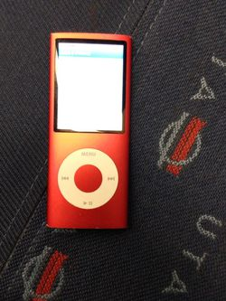 iPod Nano 4th Gen 8GB Red Works Like New Plays Video And Music Also Has The Search Option Button for Sale in Salt Lake City,  UT