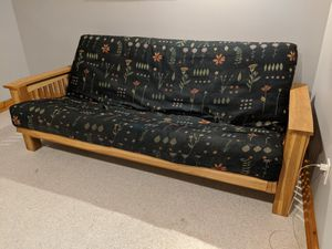 Solid wood futon frame and mattress for Sale in Seattle, WA