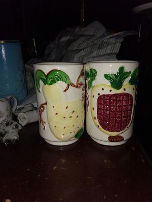 antique ceramic juice glasses for Sale in Radford, VA