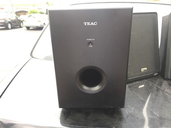 Teac MC‑DX50i 2 1 Channel Ultra Thin Hi‑Fi speakers with high Powered  Subwoofer for Sale in Upland, CA - OfferUp