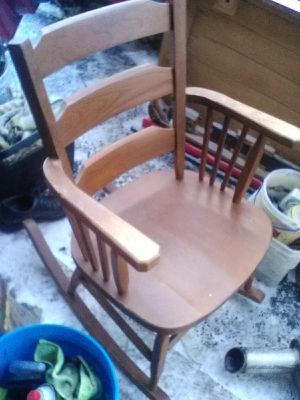 Wooden rocking chair for Sale in NC, US
