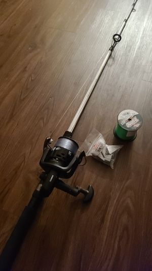 Fishing cast net and tackle also rod for Sale in San Antonio, TX