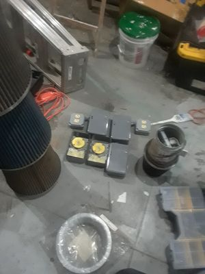 Make offer Multiple Timer s , charcoal filter , inline fan 6in 12in 14in air filters and flanges for Sale in San Francisco, CA