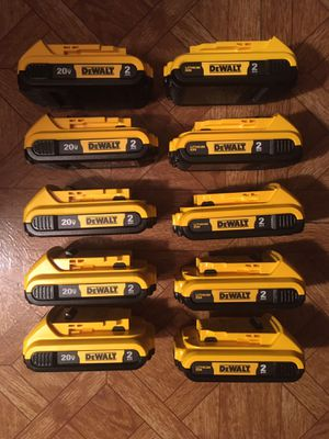 DeWalt. 20V MAX XR Lithium Ion 10-piece 2.0Ah Battery Pack. DCB203. for Sale in Brooklyn, NY