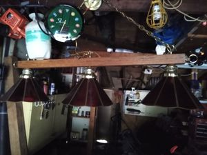 Bollards pool table light antiques and pool table clock for Sale in BRECKNRDG HLS, MO