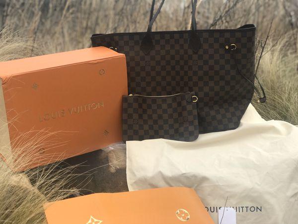 Genuine Louis Vuitton Neverfull Tote Damier GM
