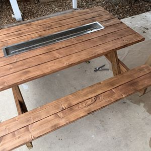 Fire Pit Picnic Table for Sale in New Braunfels, TX