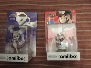 Mewtwo and dr.mario amiibo for Sale in Ontario, CA