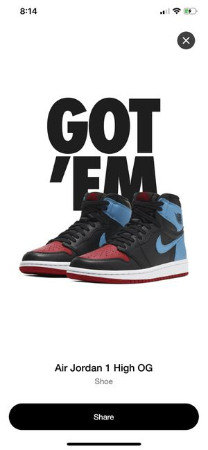 Jordan 1 unc to chi brand new for Sale in Surprise, AZ