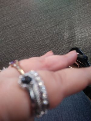 Black silver ring for Sale in Moorhead, MN