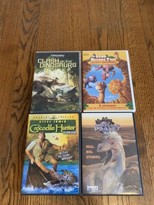 Dinosaur and Steve Irwin DVDs. for Sale in Raleigh, NC