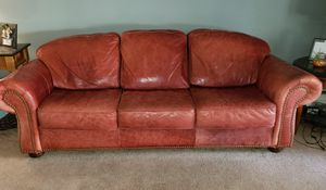 Red leather couch free for Sale in Oak Lawn, IL