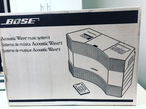 Bose Acoustic Wave Music System ll $380 dlls. NEW UNOPENED BOX for Sale in San Diego, CA