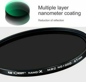 K&F Concept 55MM ND Filter ND1000 10 Stops, Neutral Density for Sale in Fontana, CA
