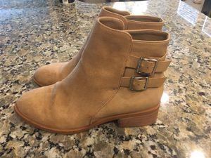 Forever 21 beige tan ankle boots booties Faux Fur Size 7 for Sale in Riverview, FL